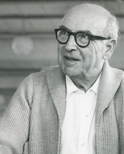 Black and white photograph of Lucian Ercolani