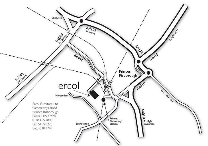 ercol showroom location map