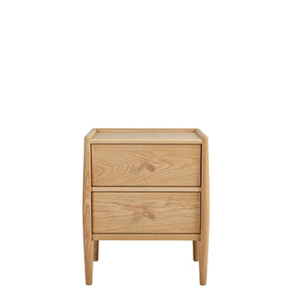 Shalstone 2 drawer bedside chest