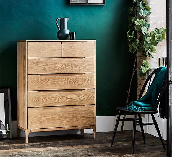 Rimini 6 drawer tall wide chest