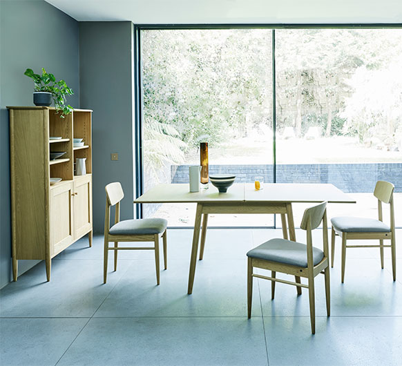 Chesham flip top extendable dining table