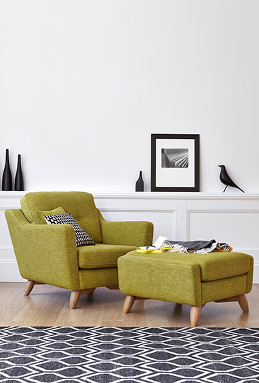 Cosenza armchair and footstool