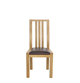 Bosco dining chair - brown faux leather
