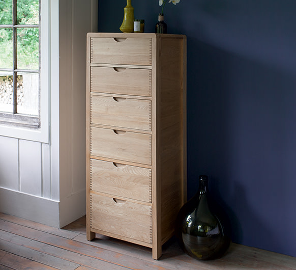 Bosco bedroom six drawer tall chest - Chests of Drawers ...