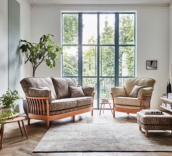renaissance 2 seater sofa small sofas ercol furniture. Black Bedroom Furniture Sets. Home Design Ideas