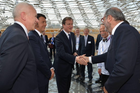 Edward Tadros meeting David Cameron