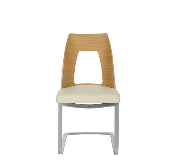 Romana cantilevered dining chair
